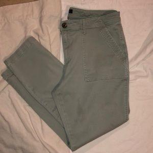 Chaps 16 light green jeans